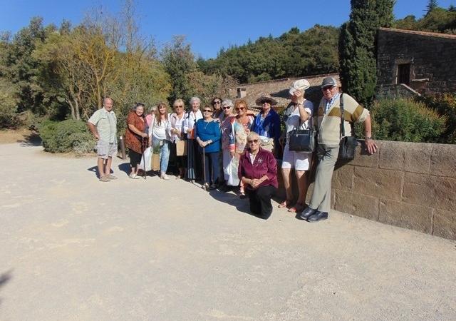 Visite à l'Abbaye de Fontfroide à l'occasion du 12ème festival international des Orchidées