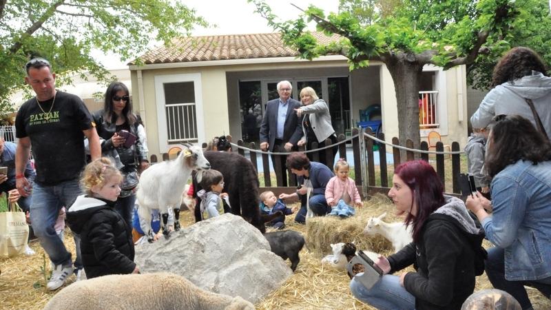 Une mini ferme s'est installée à la crèche Louise Michel !
